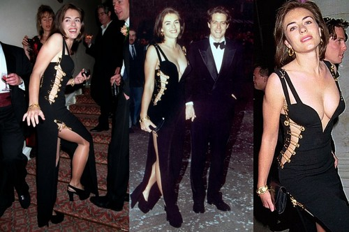 Elizabeth Hurley's safety pin dress