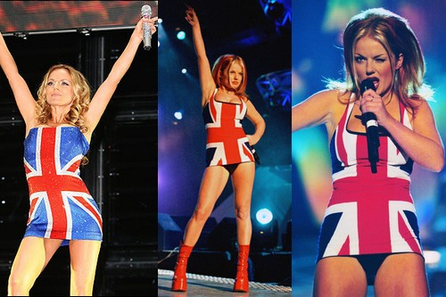 Geri Halliwell Union Jack Dress