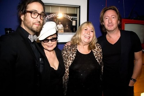 Julian Lennon and Sean Lennon, Cynthia Lennon and Yoko Ono Lennon