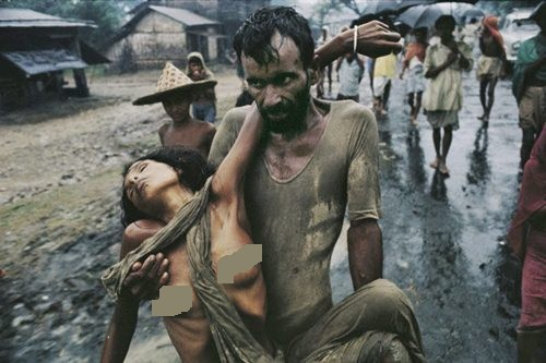Fleeing Bangladesh Couple