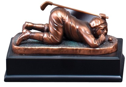 Comic golfer gallery Trophy