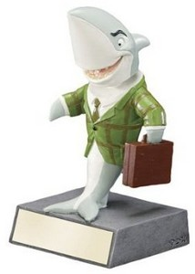 Shark bobble head Trophy