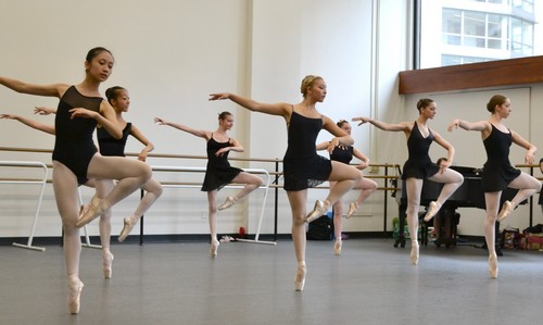 Ballet dancers training