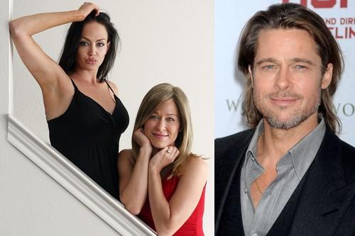Brad Pitt and Angelina and Jennifer Aniston