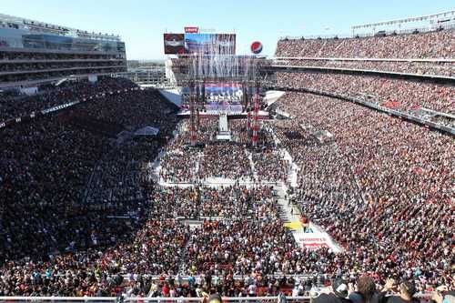 WrestleMania Stadiums