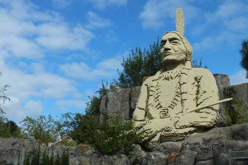 Giant LEGO Chief Sitting Bull