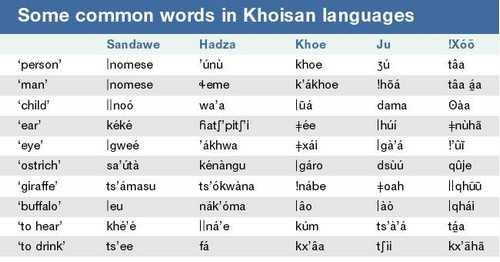 Khoisan languages