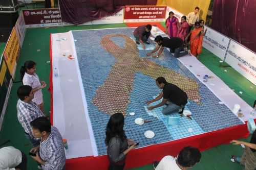 World's Largest Condom Mosaic