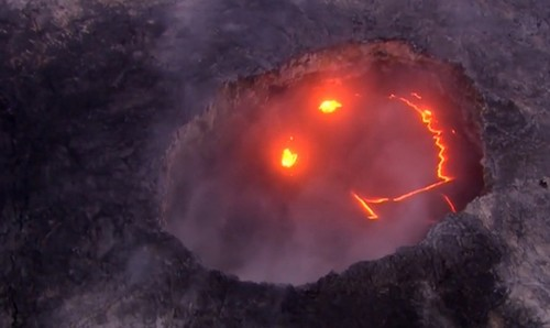 Kilauea Volcano Smiley Face