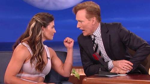 Miesha Tate Late Night with Conan O'Brien
