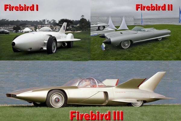 General Motors Firebird I, II and III