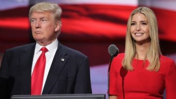 Ivanka Trump with Father
