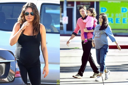 Mila Kunis Pregnant with Family