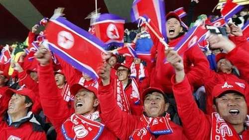 North Korean Soccer Fans