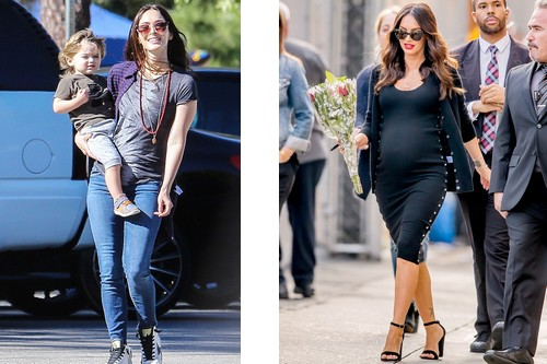 Pregnant Megan Fox with Kid
