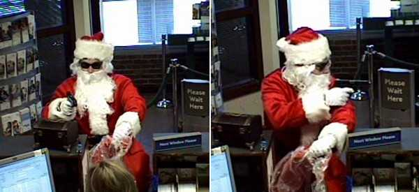 Santa Claus robbed a bank