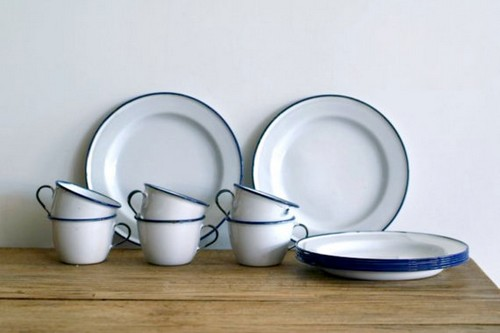 White Enamel Dishware