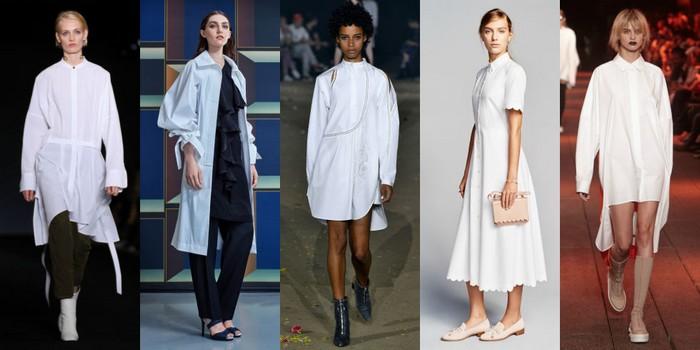 2017 white shirt dresses