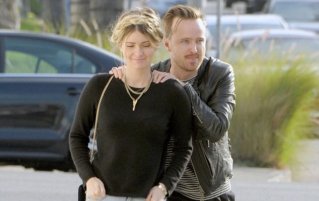 Aaron Paul and his stunning wife Lauren