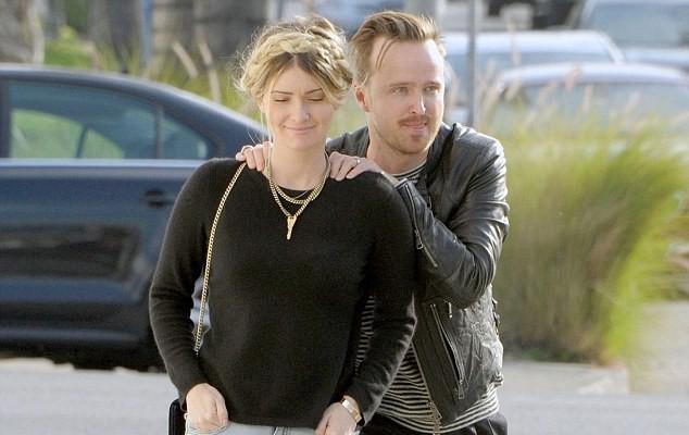 Aaron Paul and his stunning wife Lauren