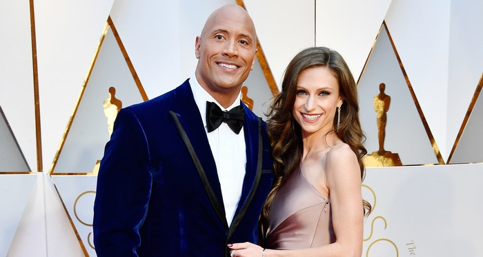 Dwayne Johnson & Wife Lauren Hashian