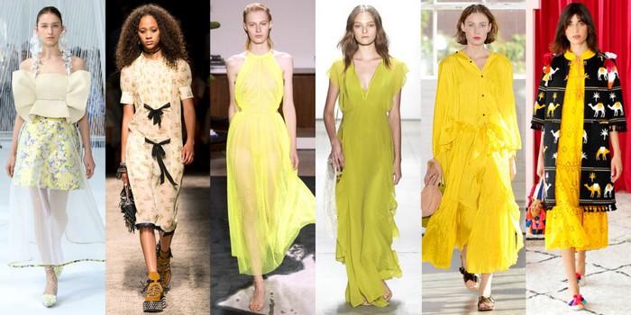 nyfw spring 2017 yellow looks