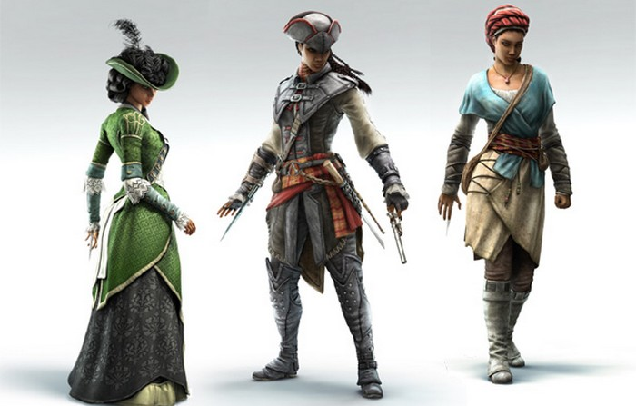 Assassins Creed-III Liberation-Aveline All Disguises