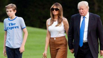 President Donald J. Trump and his son Barron Trump