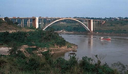 Paraná River between Ciudad del Este, Paraguay