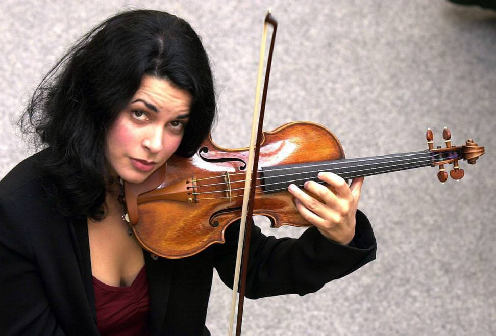 Priya Mitchell plays the Lady Tennant violin