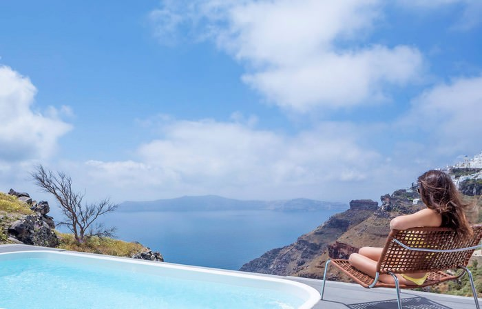 Sensational Cave Pools In Santorini