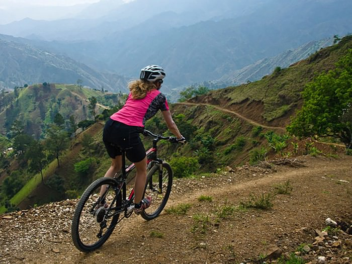 Mountain Biking Singletrack in Haiti