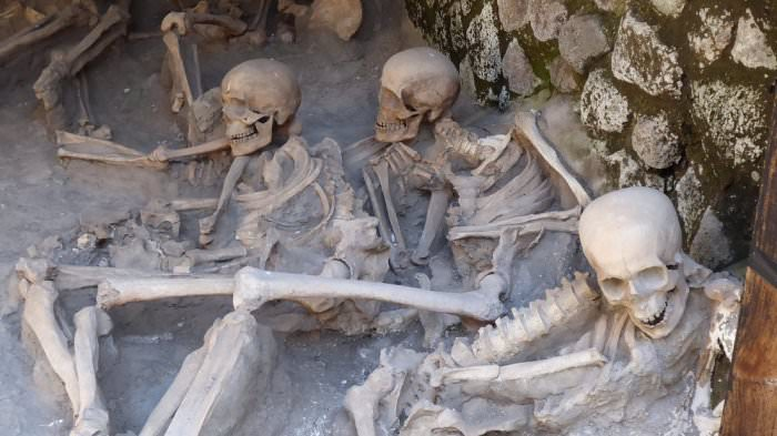 Skeletons in Herculaneum, Ercolano Italy