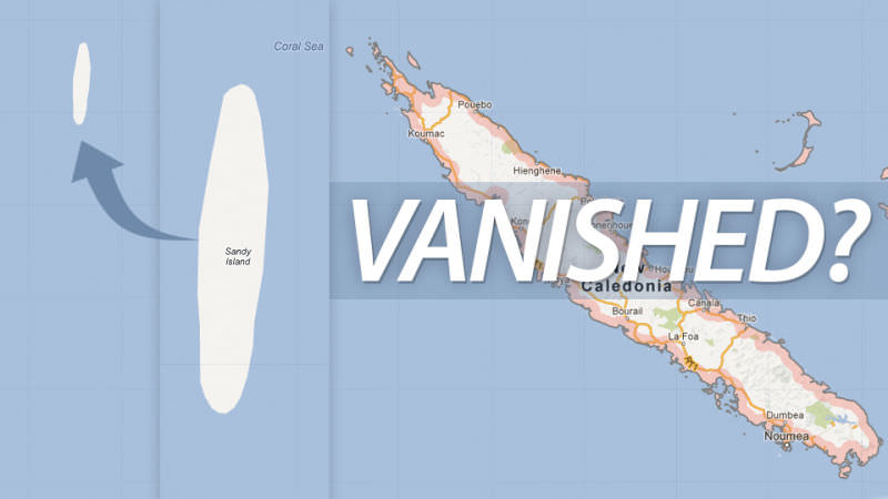 Phantom islands Sandy Island