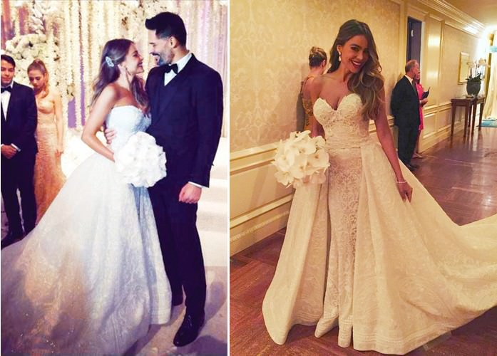 The detachable skirt wedding outfit, worn by Sofia Vergara