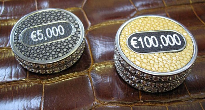 Geoffrey Parker Custom-Made White Gold Poker Set