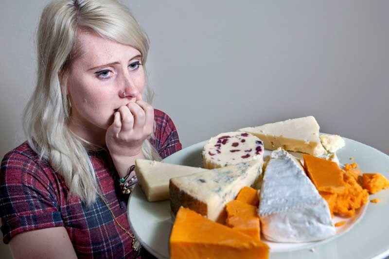 Woman terrified of CHEESE