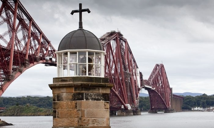 The North Queensferry Lighthouse in Scotland