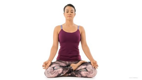 yoga postures and deep breathing