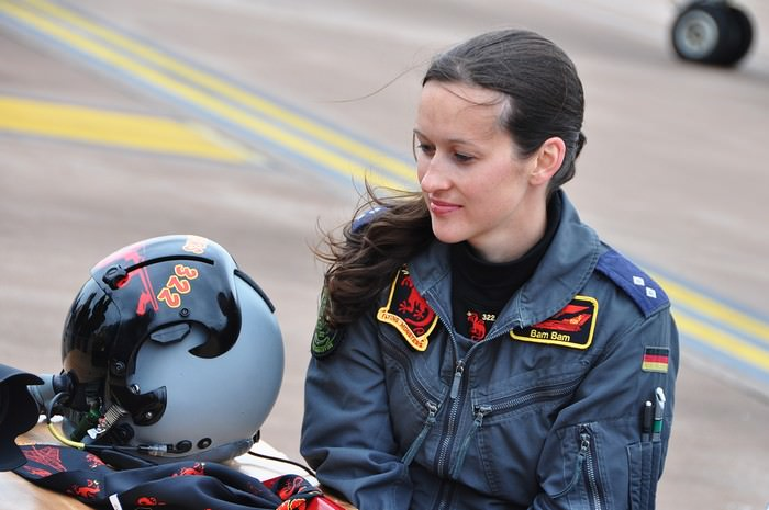 Nicola Baumann Female Fighter Pilots