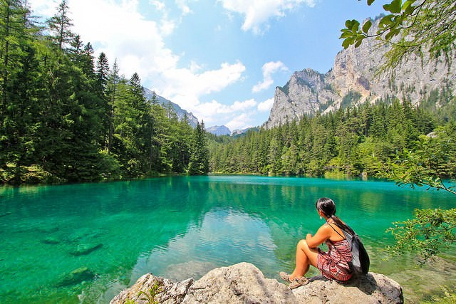 Green Lake, Austria places with crystal clear water