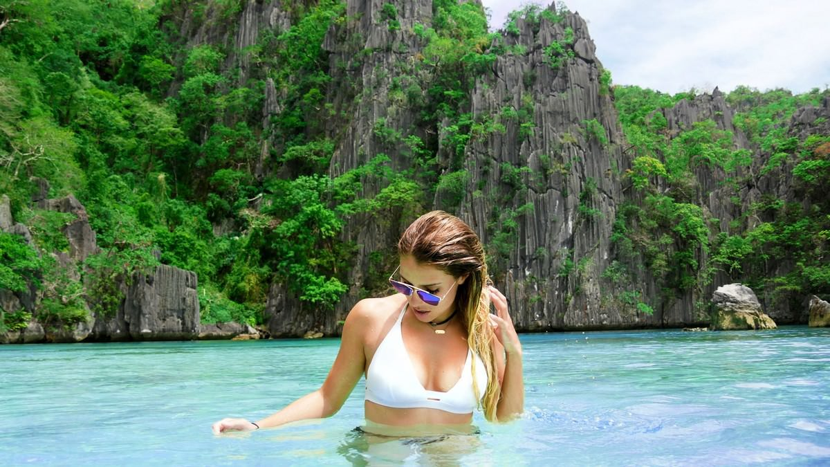 Palawan islands, Philippines places with crystal clear water