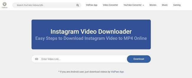 VidPaw Instagram Video Downloader