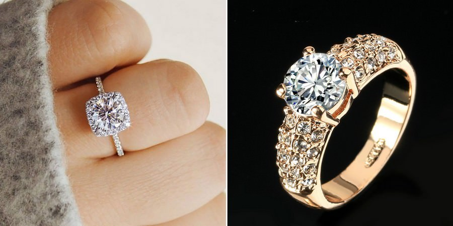Cubic Zirconia Classic Engagement Rings