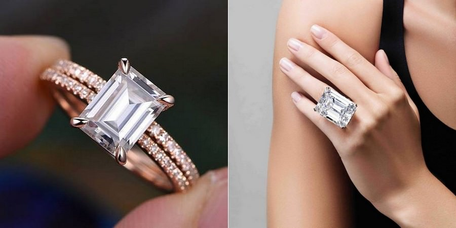 Emerald-Cut Classic Engagement Rings