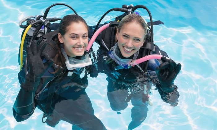 scuba diving at Amazing Sea World