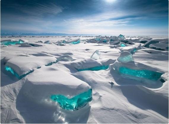 Turquoise ice, Lake Baikal - Russia