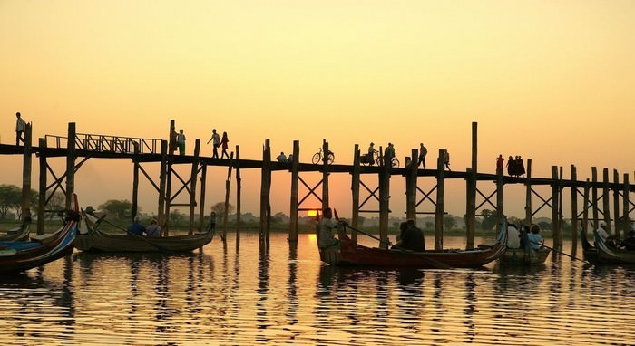 U-Bein Bridge Must-Visit Places in Myanmar