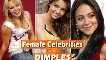 Female Celebrities with Dimples