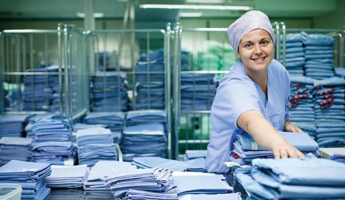 Hospital Laundry Worker